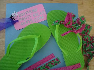 flip flop craft for birthday parties