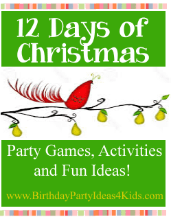 12 days of Christmas birthday party theme