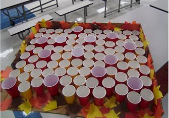 Ping Pong Toss game - www.birthdaypartyideas4kids.com