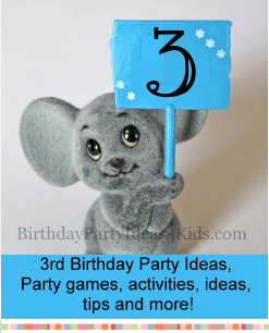 3rd birthday party ideas, timeline, theme, games for three year olds