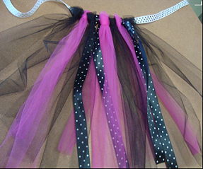 tutu made with ribbon and tulle