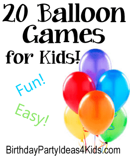 Balloon games for kids birthday parties