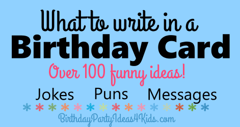 What to write in a birthday card