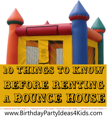 Bounce house rental checklist - What to know before renting a bounce house
