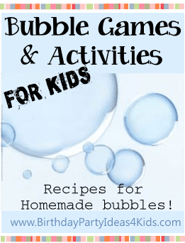 Bubbles games and activities for kids birthday parties