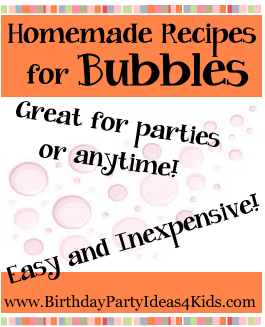 Bubbles recipes for parties