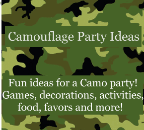 Camo / Camouflage Birthday party ideas for kids