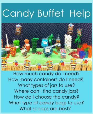 candy buffet set up, help and instructions