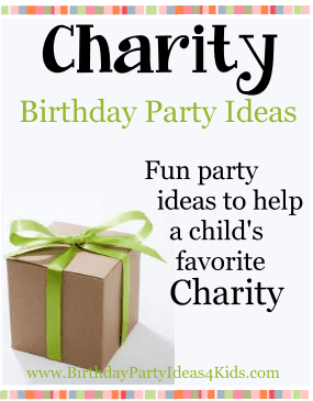 Charity Birthday Party Ideas for Kids