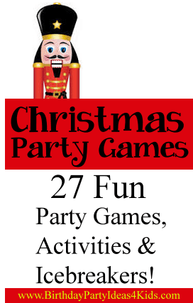 Christmas Party Games, Activities, Icebreakers and Scavenger Hunts for Kids, Tweens and Teens