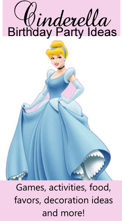 cinderella birthday party ideas, theme, games, activities