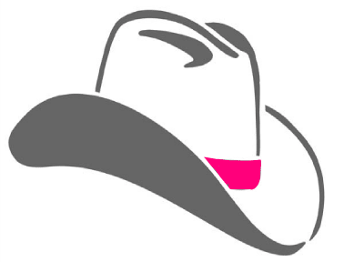 Cowgirl hat with a pink band