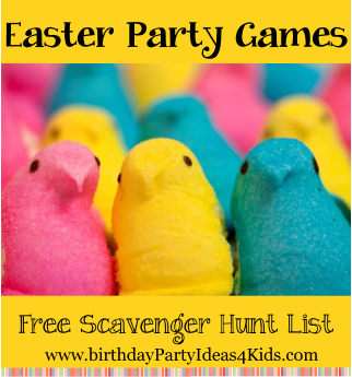 Easter party games for kids, tweens, teens and adults