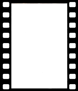 Film strip image for a movie party invitation