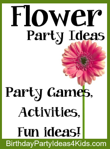 Flower Birthday Party Theme Ideas