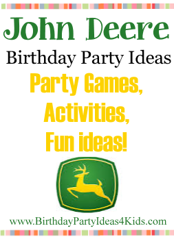 John Deere birthday party ideas for kids