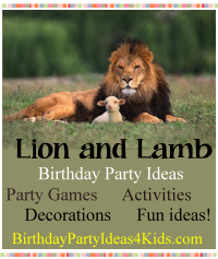 Lion and lamb birthday party ideas