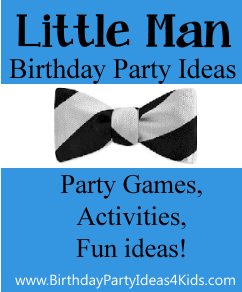 Little Man Theme birthday party ideas