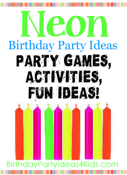 Neon birthday party ideas