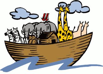 Noah's Ark boat with animals