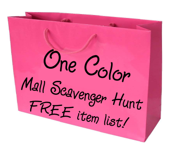 One color scavenger hunt list