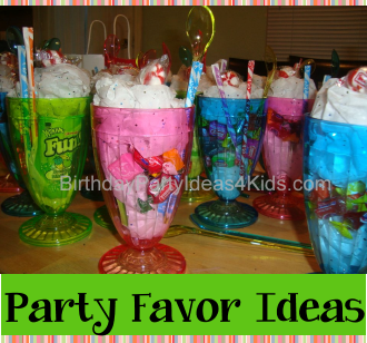 party favor ideas for kids, tween and teen birthday parties