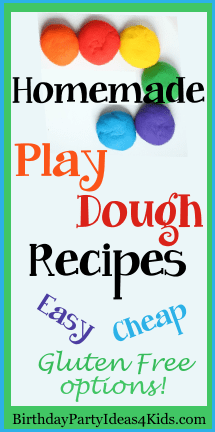 Play Dough Recipes for parties