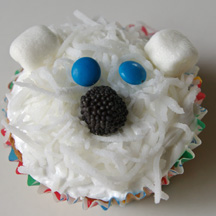 polar bear party easy cupcakes