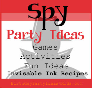 spy birthday party ideas