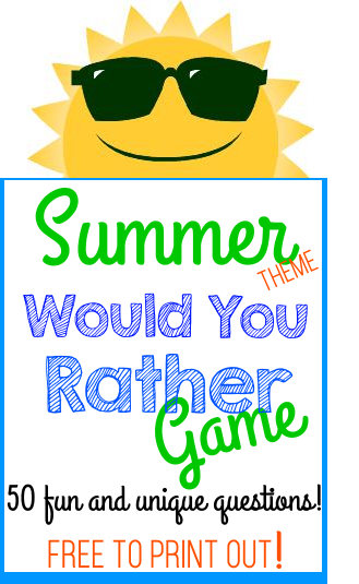 Summer theme Would You Rather Game