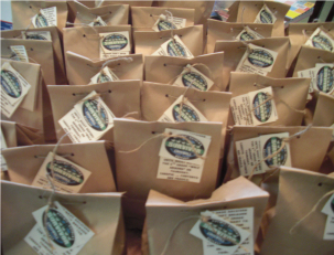 Survivor goody bags to hold party favors