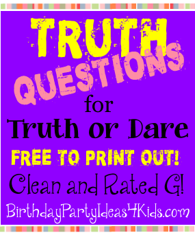 Truth Questions for the Truth or Dare Game