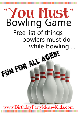 You Must bowling party game for kids, tweens, teens and adults