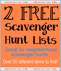 Scavenger Hunt List >> Free Scavenger Hunt Lists 50 Fun Items To Find