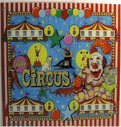 Circus party ideas poster with clowns and big top party