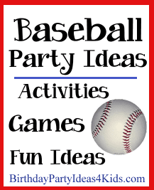 Baseball themed birthday party ideas