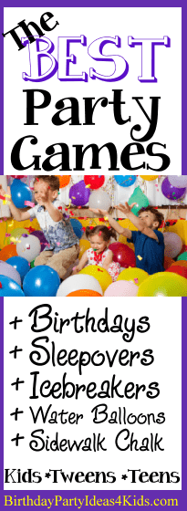 birthday party games for boys and girls kids tweens and teenagers