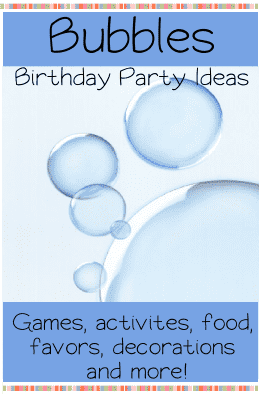 bubbles birthday party ideas
