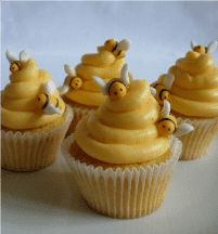 bumblebee cupcakes for a bumble bee party theme