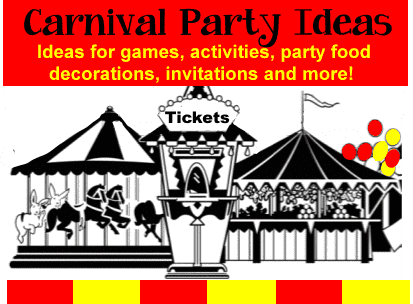 carnival birthday party theme ideas, games, activities