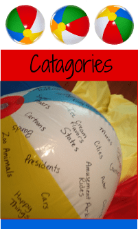 Catagories game / icebreaker game / beach ball