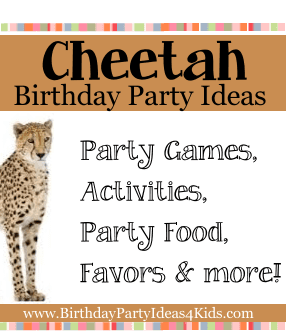 Cheetah themed birthday party ideas