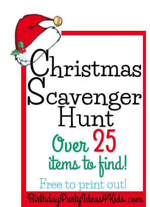 Christmas Scavenger Hunt.Christmas Scavenger Hunt List Free To Print Out