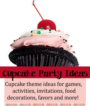 cupcake birthday party ideas, games, activities and fun ideas