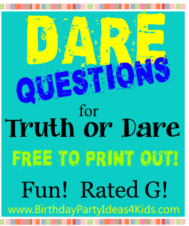Truth or dare questions funny