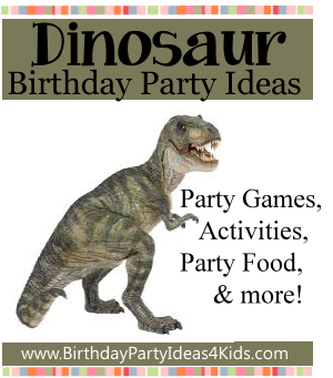Dinosaur Party Theme Birthday Party Ideas for Kids