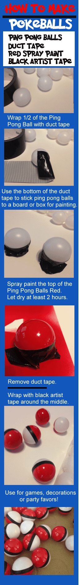 How to make do it yourself Pokemon Pokeballs