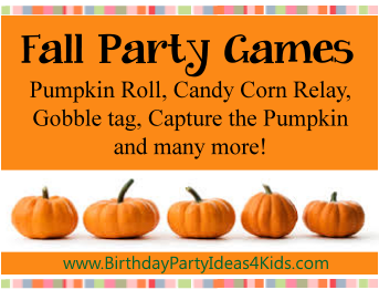 Fun fall theme games birthday party ideas for kids fall theme party games filmwisefo