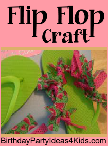 Flip flop craft for Crafts for 10 year old birthday party