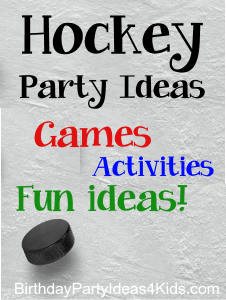 Hockey theme party ideas for kids